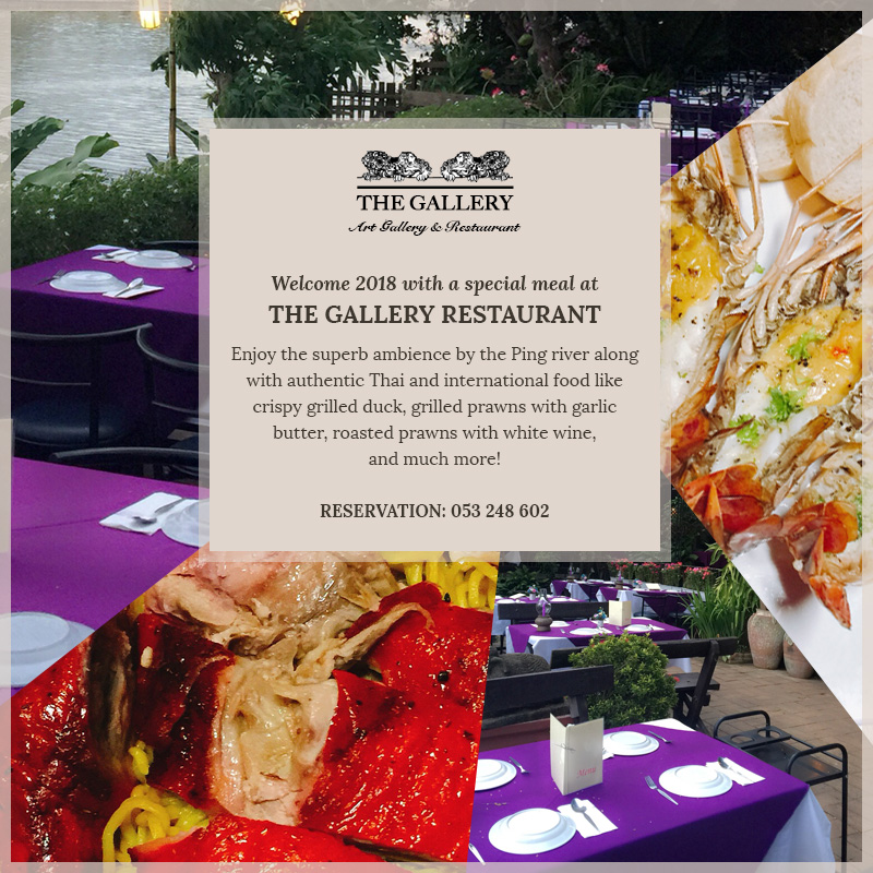 2018 Celebration at The Gallery Restaurant Chiang Mai