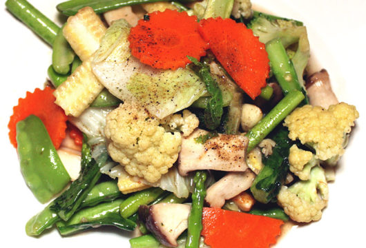 Stir-fried mixed vegetables - The Gallery Restaurant