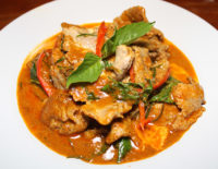Panang Curry with Pork - The Gallery Restaurant