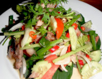 Grilled Pork Salad - The Gallery Restaurant